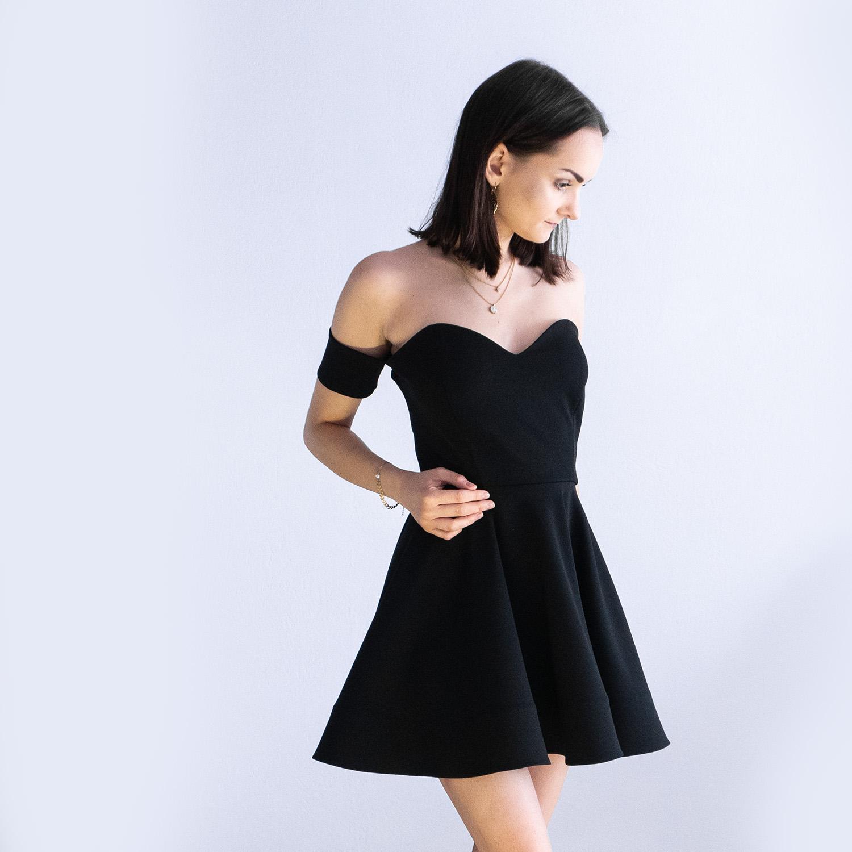 nunu sukienka hiszpanka rozkloszowana czarna